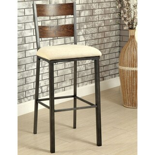 Furniture of America Kesso Industrial Metal 30.5-inch Bar Chair (Set of 2)