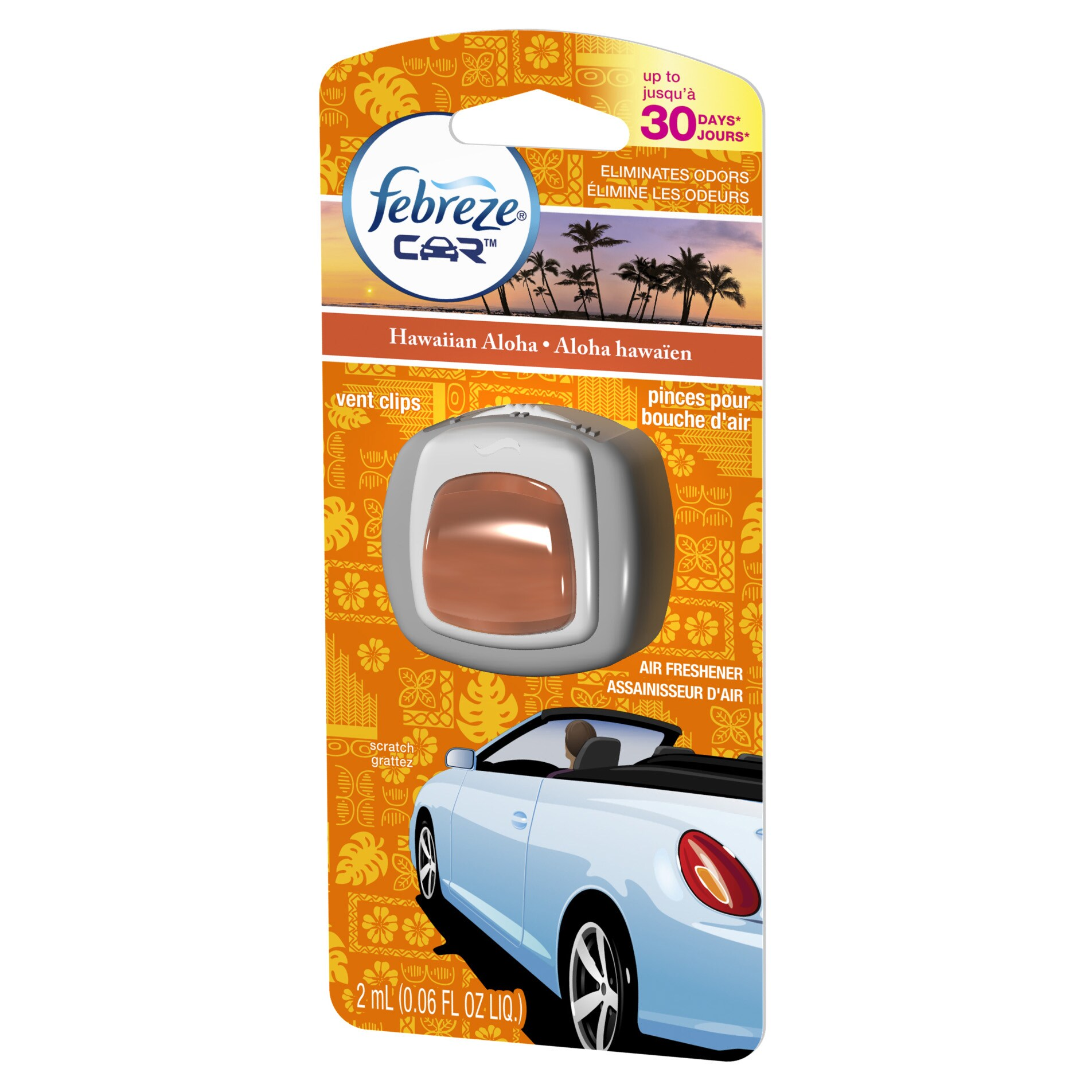 Febreze 94725 .06 Oz Hawaiian Aloha Air Freshener Car Ven...