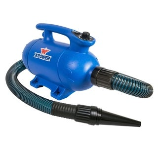 XPOWER B-24 Thermal Ace Variable Speed Professional Pet Force Dryer with Heat - BLue