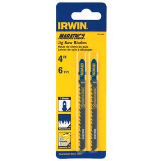 """Irwin Marathon 3072406 4"""" 6 TPI Fleam Ground T-Shank Jigsaw Blade"""