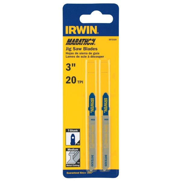 Irwin Marathon 3072320 3 20 TPI T Shank Jigsaw Blade