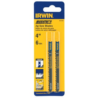 "Irwin Marathon 3071406 4"" 6 TPI Fleam Ground Jigsaw Blade"