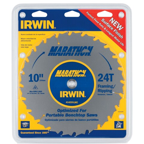 "Irwin Marathon 14233 10"" 24T Marathon Miter & Table Saw Blades"