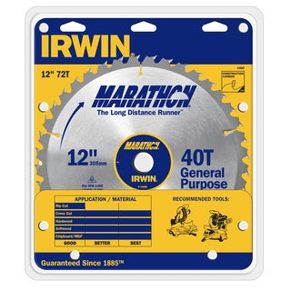 "Irwin Marathon 14082 12"" Marathon Miter & Table Saw Blades"