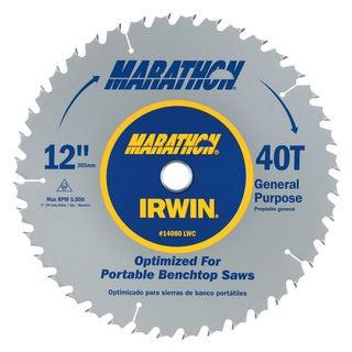 """Irwin Marathon 14080 12"""" Marathon Miter & Table Saw Blades"""