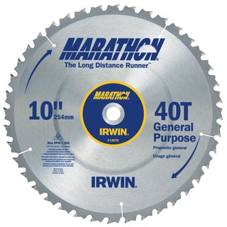 "Irwin Marathon 14070 10"" 40T Marathon Miter & Table Saw Blades"