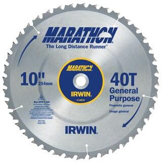 """Irwin Marathon 14070 10"""" 40T Marathon Miter & Table Saw Blades"""
