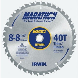 "Irwin Marathon 14053 8-1/4"" 40T Marathon Miter & Table Saw Blades"