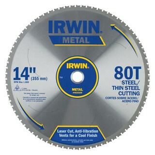 "Irwin 4935559 14"" 80 Tooth Carbide Metal Cutting Circular Saw Blade"