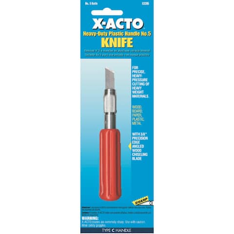 X Acto X3205 No. 5 Heavy Duty Knife With Plastic Handle