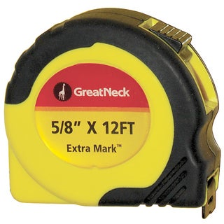 "Great Neck 95007 5/8"" X 12' ExtraMark Power Tape"