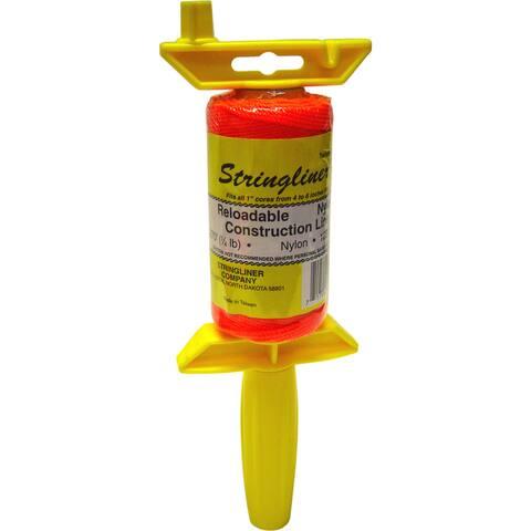 Stringliner 25459 ½Lb Braided Orange Nylon Pro Reel Reloadable Construction Ln