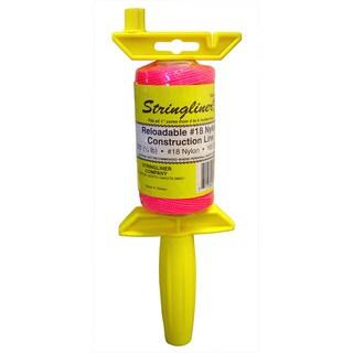 Stringliner 25109 ¼ Lb Twisted Pink Nylon Pro Reel Reloadable Construction LN