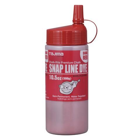 Tajima PLC3-DR300 10.5 Oz Dark Red Snap Line Powdered Chalk