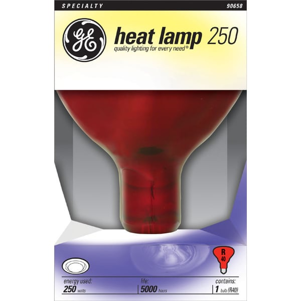 Ge Lighting 37771 Red Heat Lamp Light Bulb Free Shipping