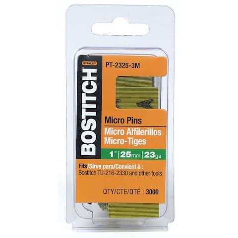 "Bostitch Stanley PT-2325-3M 3,000-count 1"" 23 Gauge Galvanized Micro Pin"
