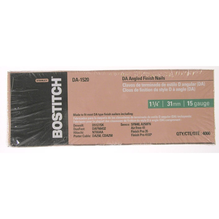 "Stanley-Bostitch DA-1540 4,000-count 2-1/2"" DA Angled Fin..."