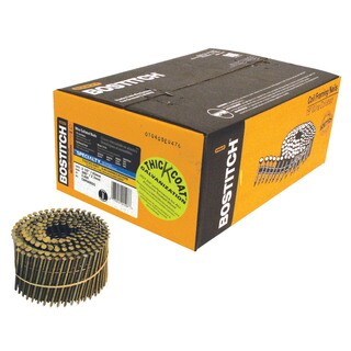 """Bostitch Stanley C8R90BDG 3,600-count 2-1/2"""" Ring Shank 15° Coil Siding Nail"""