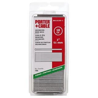 "Porter Cable PBN18200-1 1,000-count 2"" 18 Gauge Brad Nails"