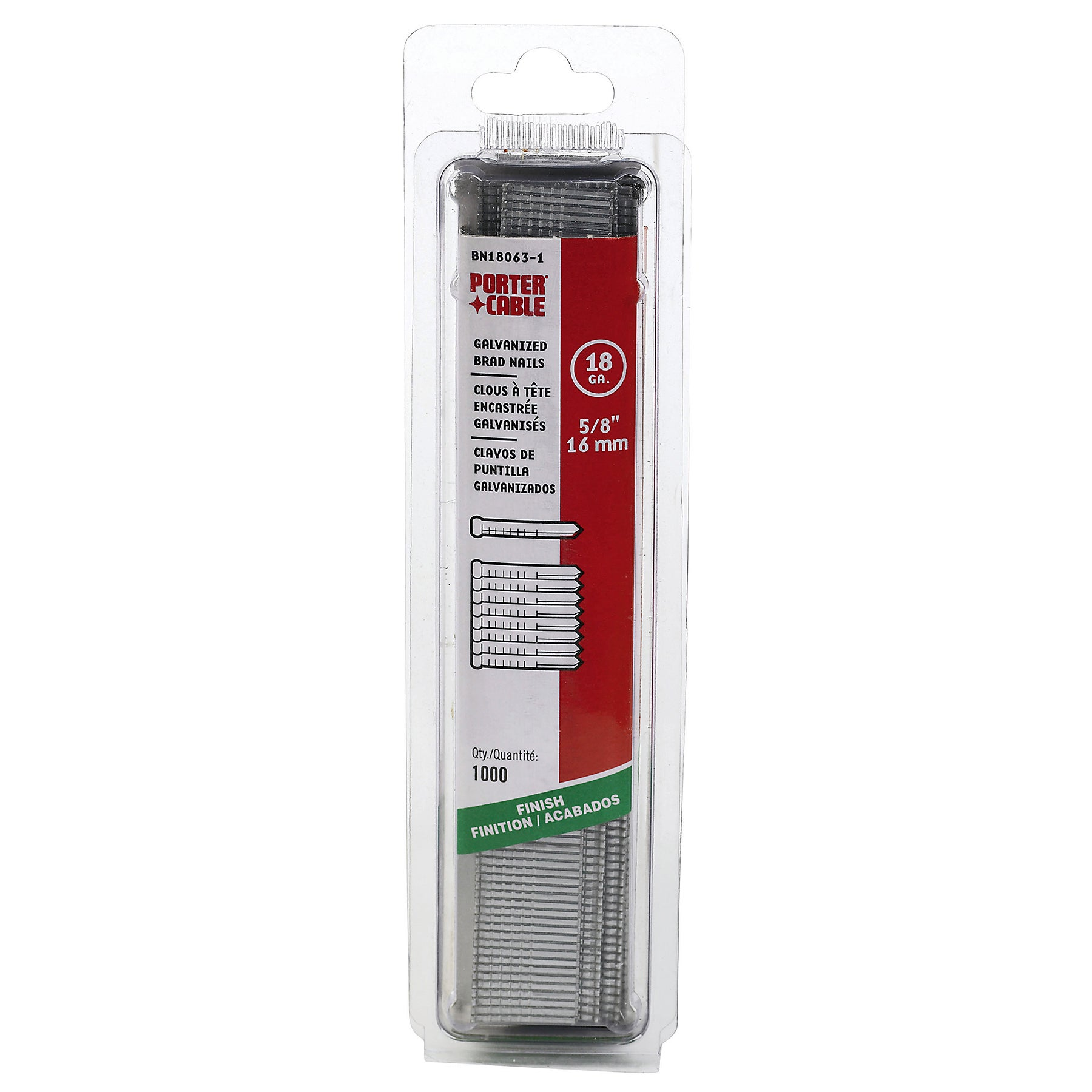 """Porter Cable PBN18063-1 1,000-count 5/8"""" 18 Gauge Brad Na..."""
