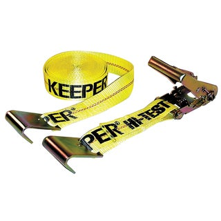 Keeper 04623 2-inch x 27' Ratchet Tie-Down With Flat Hooks
