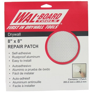 "Walboard 54-007 8"" X 8"" Drywall Repair Patch"