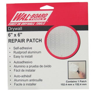 "Walboard 54-006 6"" X 6"" Drywall Repair Patch"