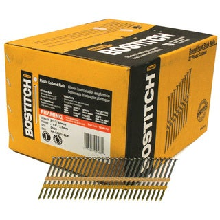 """Bostitch Stanley RH-S8D113EP 2-3/8"""" Smooth Shank 21° Plastic Collated Stick Framing Nail"""