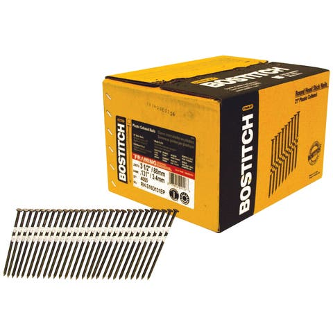 """Bostitch Stanley RH-S16D131EP 3-1/2"""" Smooth Shank 21° Plastic Collated Stick Framing Nail"""