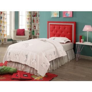 Breen Red Crystal Button Tufted Headboard