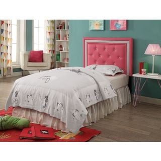 Breen Pink Crystal Button Tufted Headboard