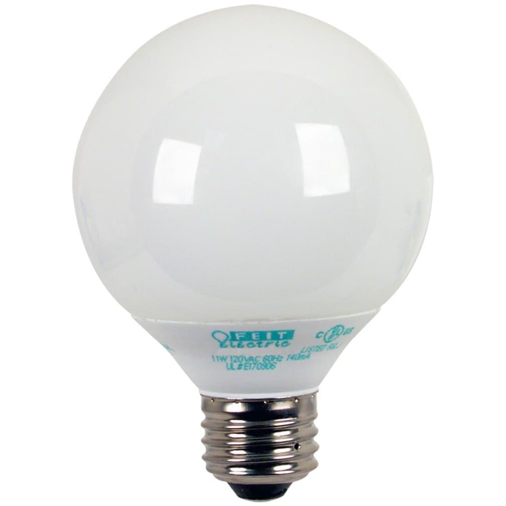 FEIT Electric ESL11GTMM/3/ECO 11 Watt Soft White G25 Glob...