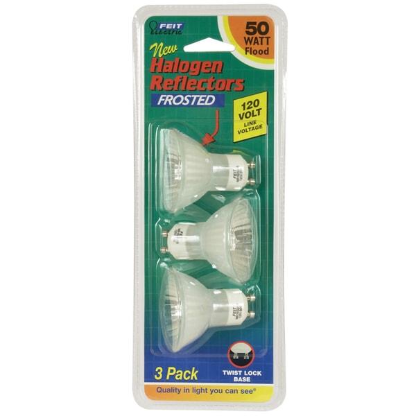 Feit Electric 50 Watt Mr16 Halogen Quartz Reflector Flood: Shop Feit Electric BPQ50MR16/GU10/ 50 Watt MR16 Frosted