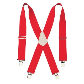 "CLC Work Gear 110RED 2"" Wide Red Work Suspenders"