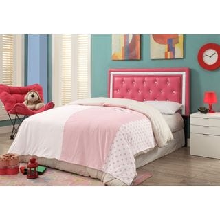 Breen Pink Crystal Button Tufted Full Size Headboard