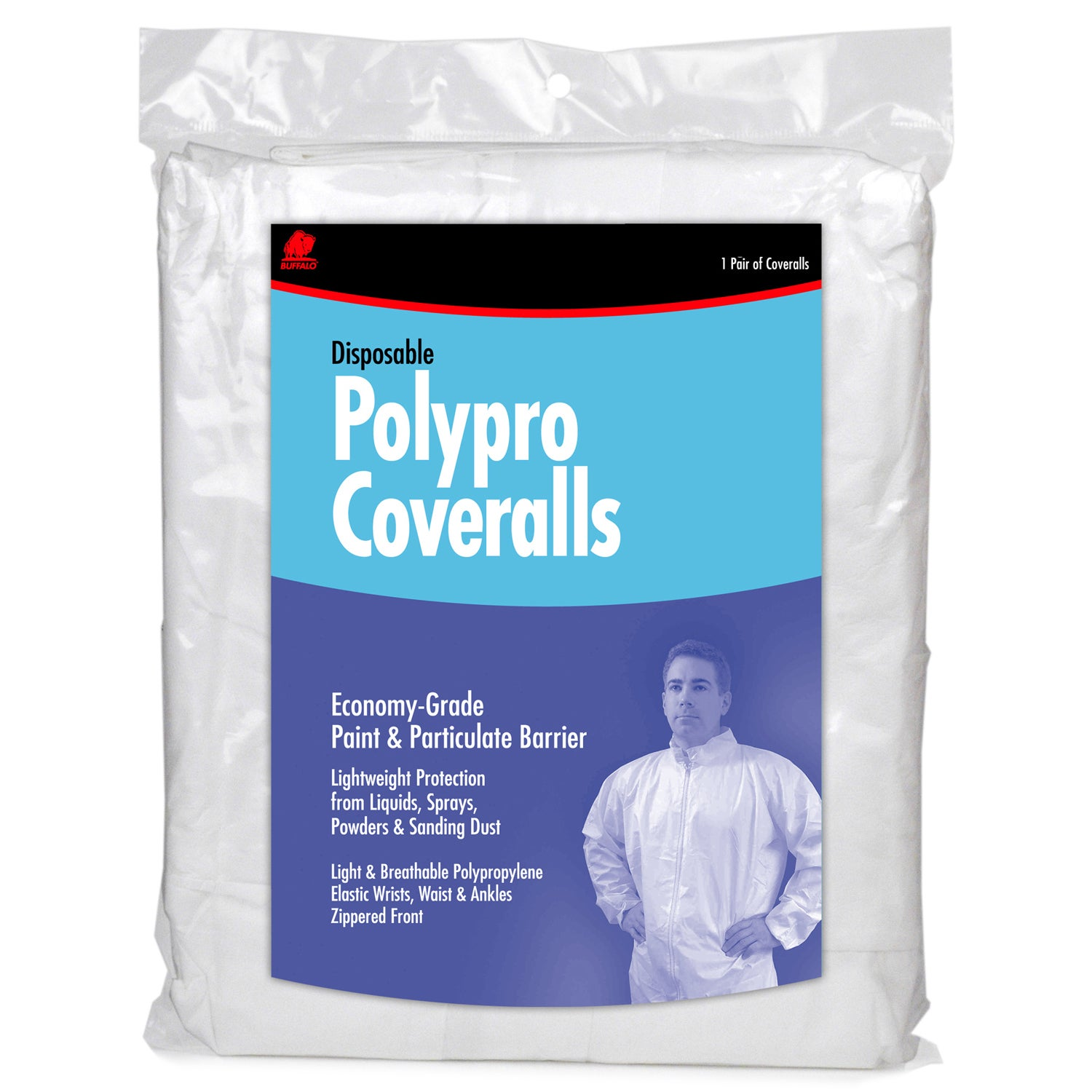 Buffalo 68518 Extra Extra Large Disposable Polypro Coveralls (Safety gear)