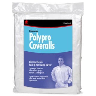 Buffalo 68517 Extra Large White Disposable Polypro Coveralls