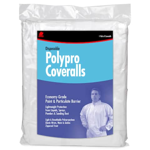 Buffalo 68516 Large Disposable Polypro Coveralls