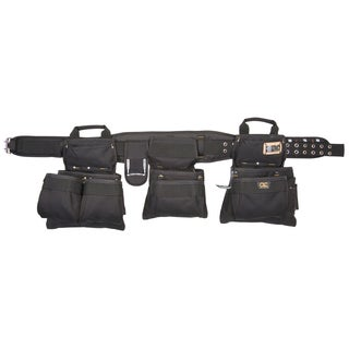 CLC Work Gear 5605 BLACK 5 Piece 18 Pocket Black Carpenter's Tool Belt Combo Set