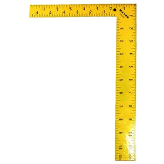 "Mayes 10222 12"" Yellow Steel Square"