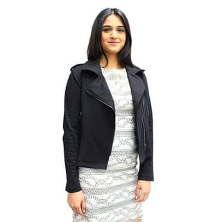 Relished Women's Black Moto Jacket|https://ak1.ostkcdn.com/images/products/11631473/P18565683.jpg?impolicy=medium