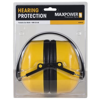 Maxpower 339476 Foldable Compact Ear Muffs Hearing Protection