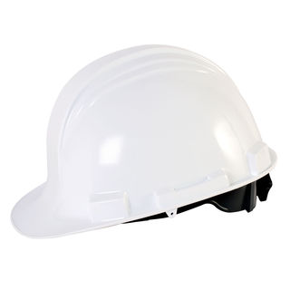 Honeywell RWS-52004 White Hard Hat With Ratchet Suspension
