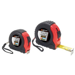 Performance Tool W5124BP 25' SAE & MET 2 Piece Tape Measure Set