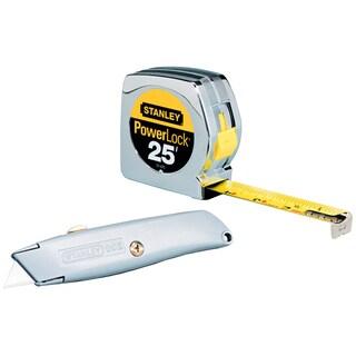 Stanley Hand Tools 90-082 25' PowerLock Tape & Utility Knife Pack