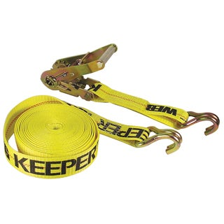Keeper 04622 2-inch x 27' Ratchet Tie-Down With Double J Hooks