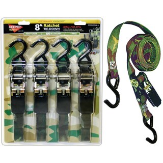 Keeper 03508-V 4 Pack 8' Camo Ratchet Tie-Down