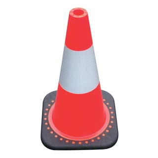 SAS Safety Corporation 7501-18 18-inch Red-Orange Safety Cone