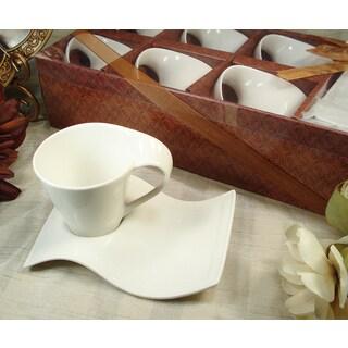12 piece Biscotti Saucer Cappuccino Set