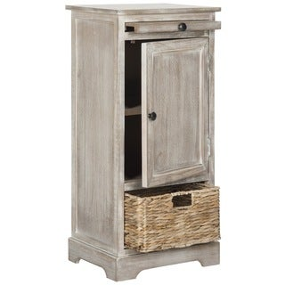 Maison Rouge Spenser Vintage White/ Grey Tall Storage Unit
